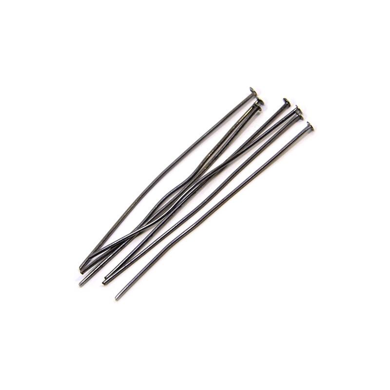 Піни (цвяшки) біжутерні, 5см, колір чорної сталі