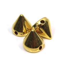 Бусины шипы акриловые, 8х8х8 мм, цвет золотой