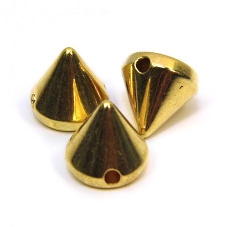 Намистини шипи акрилові, 10х10х10 мм, колір золотий