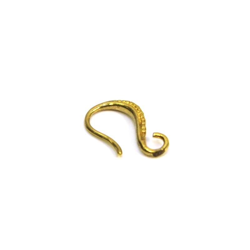 Основа для сережок, 14х8 мм, колір античне золото