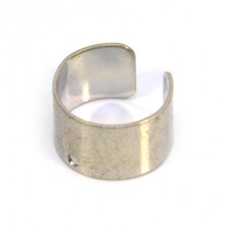 Основа для сережок (кафф), 9х9х6 мм, колір сталевий. Ціна за 1 шт.