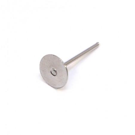 Основа для сережок (гвіздок, пуссет), 15х7х7 мм, колір сталевий. Ціна за 1 шт.