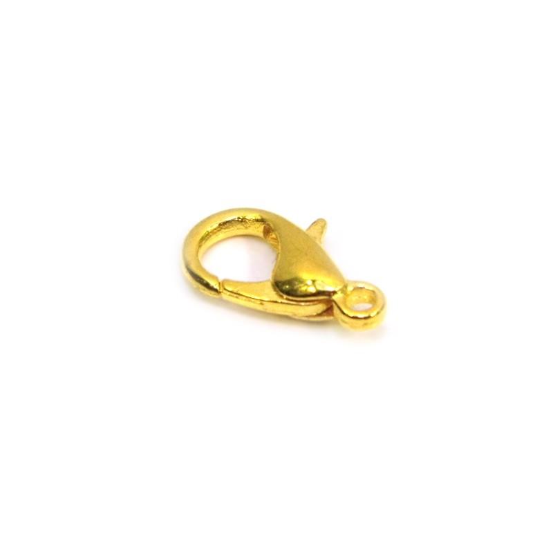 Застібка карабін (лобстер), 7х12мм, золотого кольору