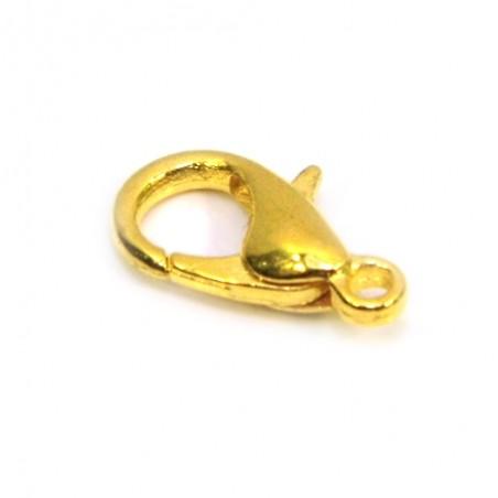 Застежка карабин (лобстер), 7х12мм, золотого цвета