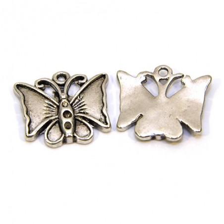 Подвеска бабочка, 17х19мм, стальная