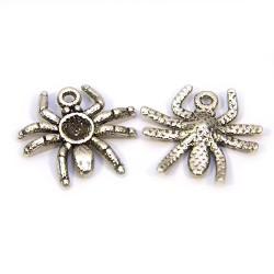 Підвіска павук, 17х19 мм, металева, колір сталевий.
