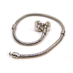 Основа для браслета Пандора, латунь, сталевий колір