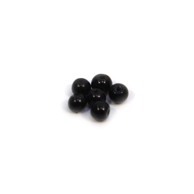 Бусина жемчужная, 3 мм, черная