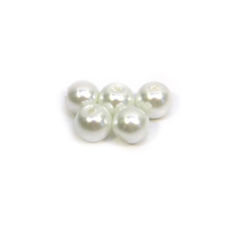 Бусина жемчужная, 6 мм, белая