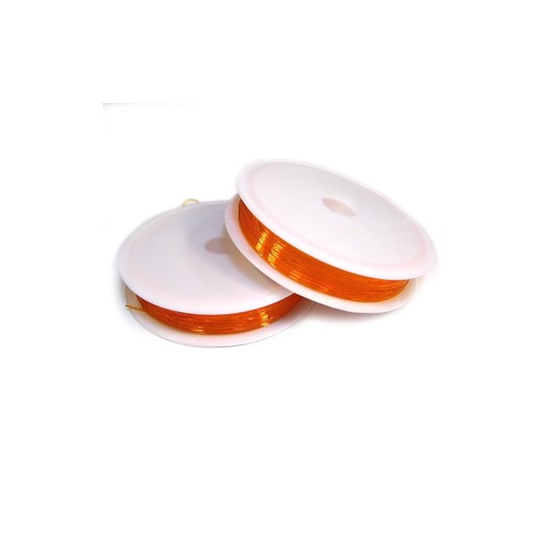 Силиконовая (эластомерная) нить, 0,8мм, оранжевая, катушка 10м.