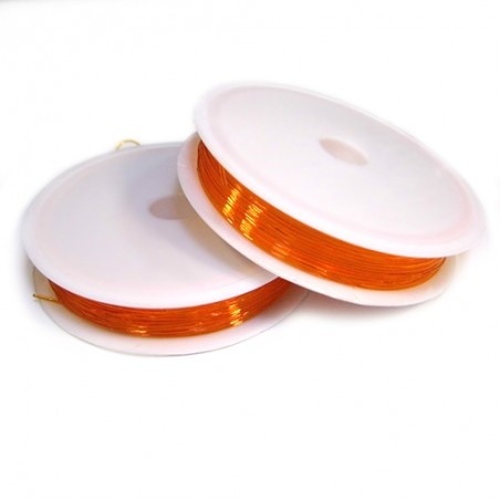 Силіконова (еластомірна) нитка, 0,8мм, помаранчева, котушка 10м.