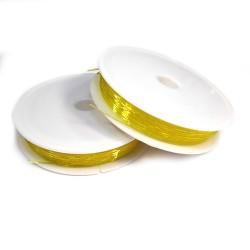Силиконовая (эластомерная) нить, 0,8мм, желтая, катушка 10м.