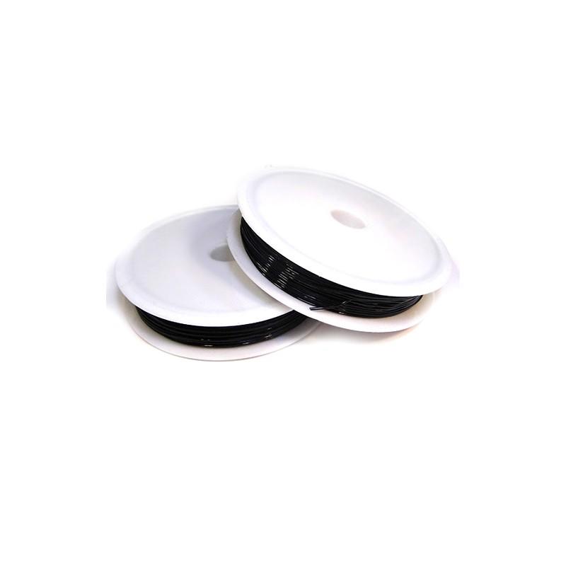 Силиконовая (эластомерная) нить, 0,8мм, черная