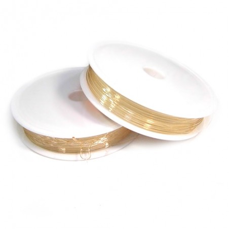Эластомерная (силиконовая) нить, 1,0мм, розовая светлая, катушка