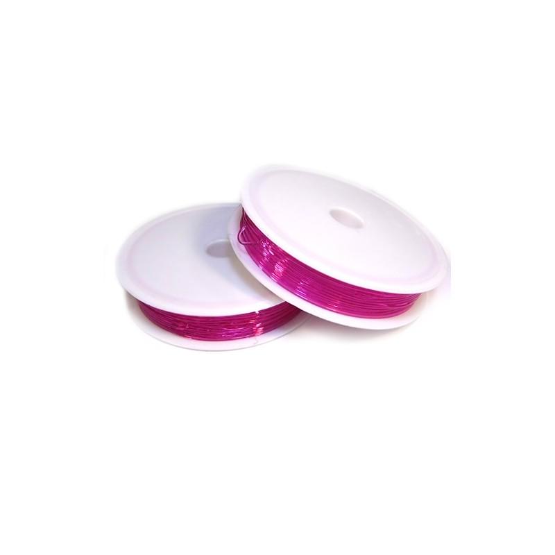 Еластомірна (силіконова) нитка, 1,0мм, рожева, котушка