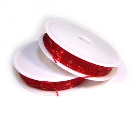 Эластомерная (силиконовая) нить, 1,0мм, красная, катушка