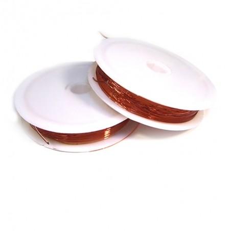 Эластомерная (силиконовая) нить, 1,0мм, темно-оранжевая, катушка