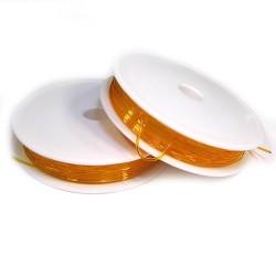 Эластомерная (силиконовая) нить, 1,0мм, оранжевая, катушка