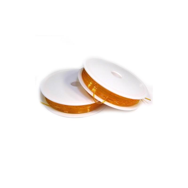 Еластомірна (силіконова) нитка, 1,0мм, помаранчева, котушка