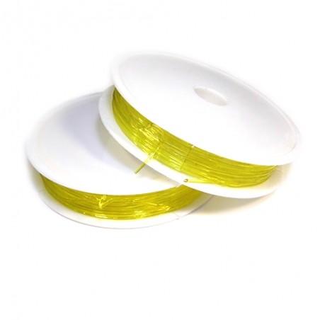 Еластомірна (силіконова) нитка, 1,0мм, жовта, котушка