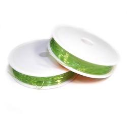 Эластомерная (силиконовая) нить, 1,0мм, зеленая, катушка