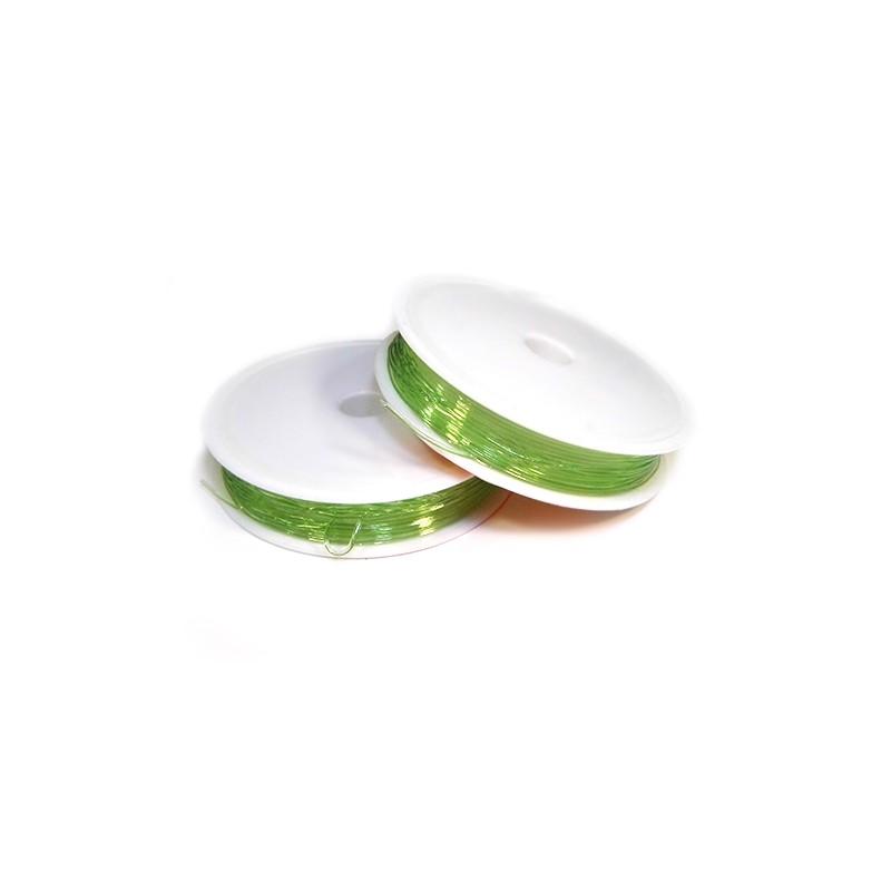 Еластомірна (силіконова) нитка, 1,0мм, зелена, котушка