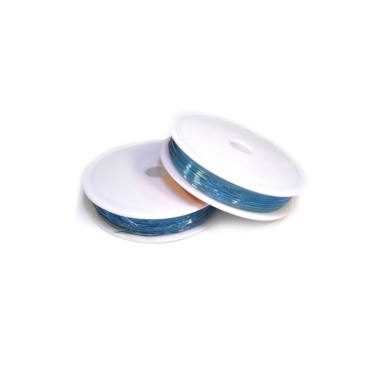Эластомерная (силиконовая) нить, 1,0мм, голубая, катушка