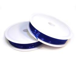 Эластомерная (силиконовая) нить, 1,0мм, синяя, катушка