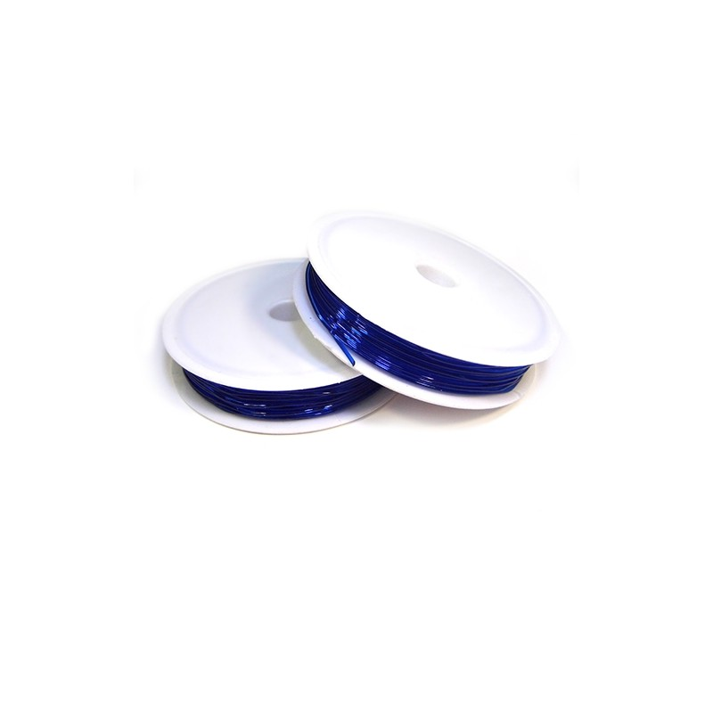 Еластомірна (силіконова) нитка, 1,0мм, синя, котушка