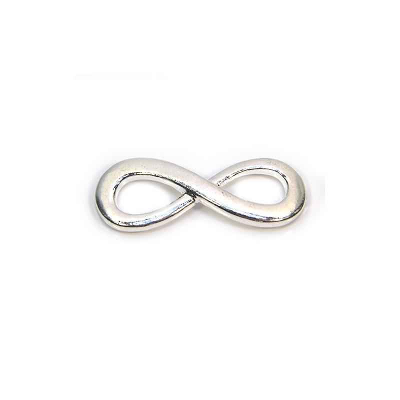"""Конектор """"Нескінченність"""", 13х35 мм, металевий, колір срібний"""