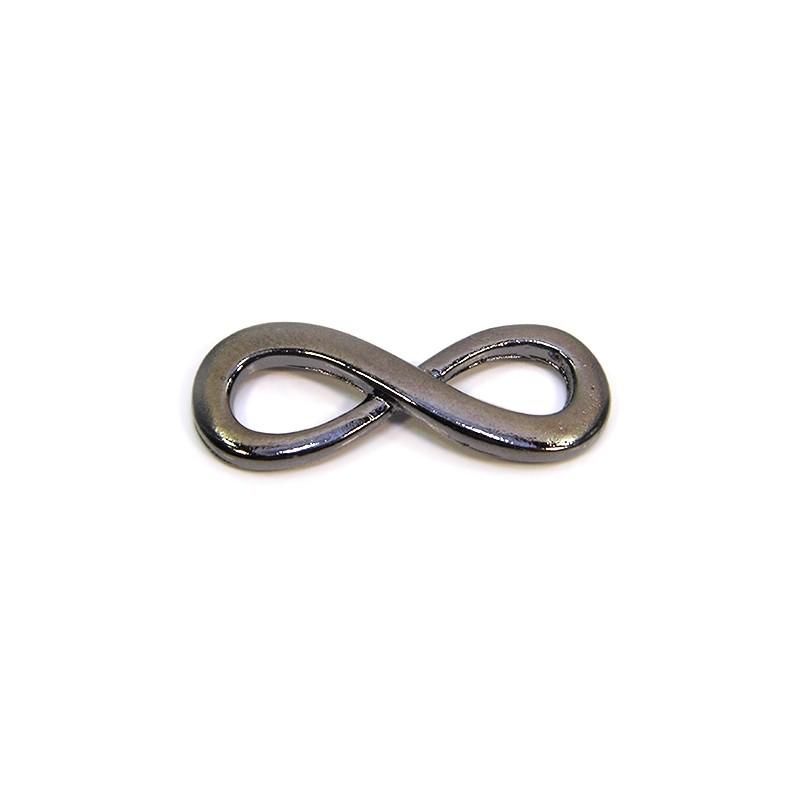 """Коннектор """"Бесконечность"""", 13х35 мм, металлический, цвет черный"""