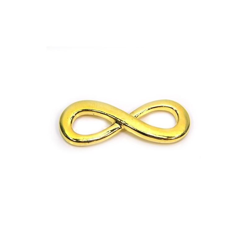 """Коннектор """"Бесконечность"""", 13х35 мм, металлический, цвет золотой"""