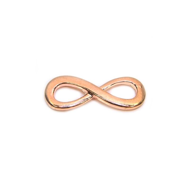 """Конектор """"Нескінченність"""", 13х35 мм, металевий, колір червоного золота"""