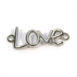 """Коннектор """"Love"""", 15х40 мм, металлический, цвет стальной"""