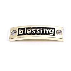 """Конектор """"blessing"""", 9х15 мм, металевий, колір сталевий"""