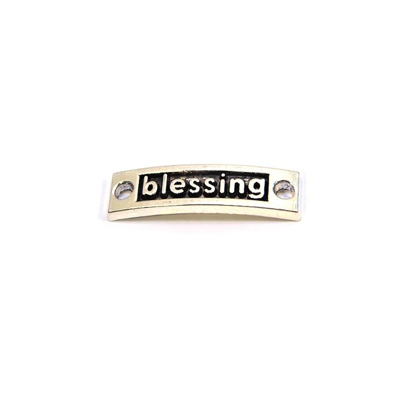 """Коннектор """"blessing"""", 9х15 мм, металлический, цвет стальной"""