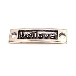 """Конектор """"believe"""", 9х15 мм, металевий, колір сталевий"""