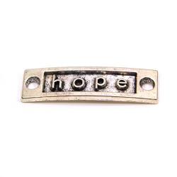 """Конектор """"hope"""", 9х15 мм, металевий, колір сталевий"""