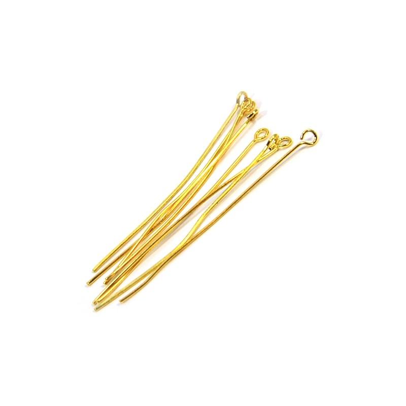 Шпильки біжутерні, 5см, золотаві
