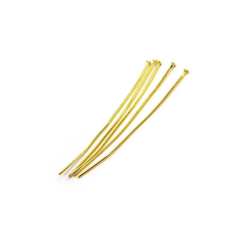 Піни (цвяшки) біжутерні, 5см, золотисті