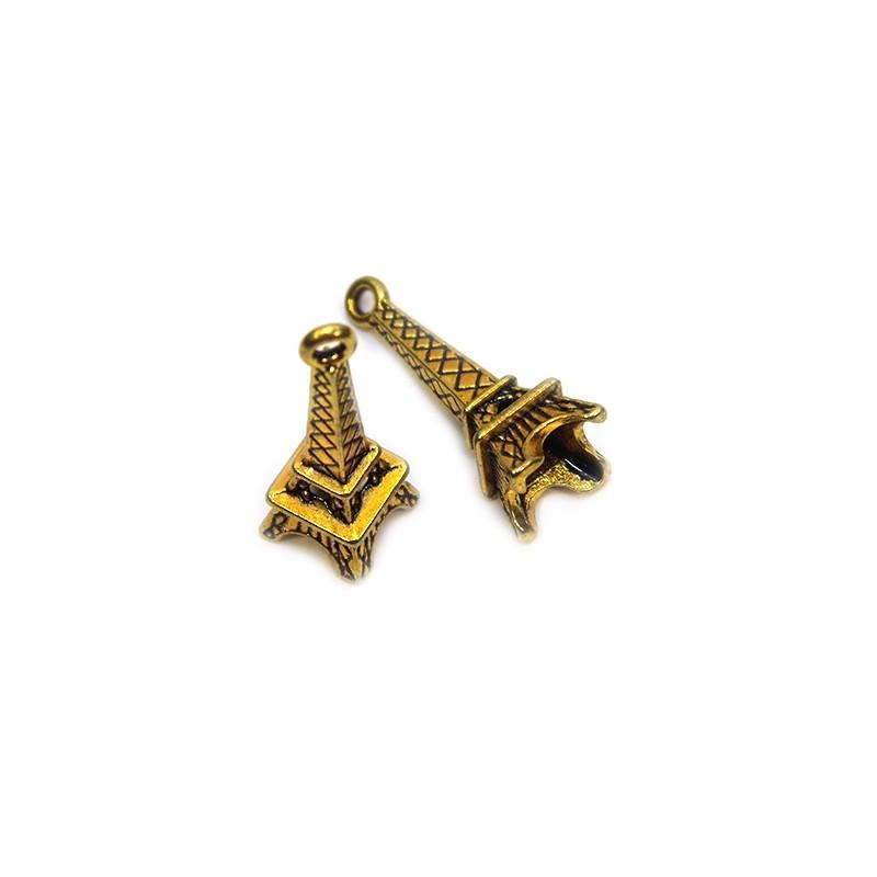 Підвіска Ейфелева вежа, об'ємна, 8х23мм, аничне золото