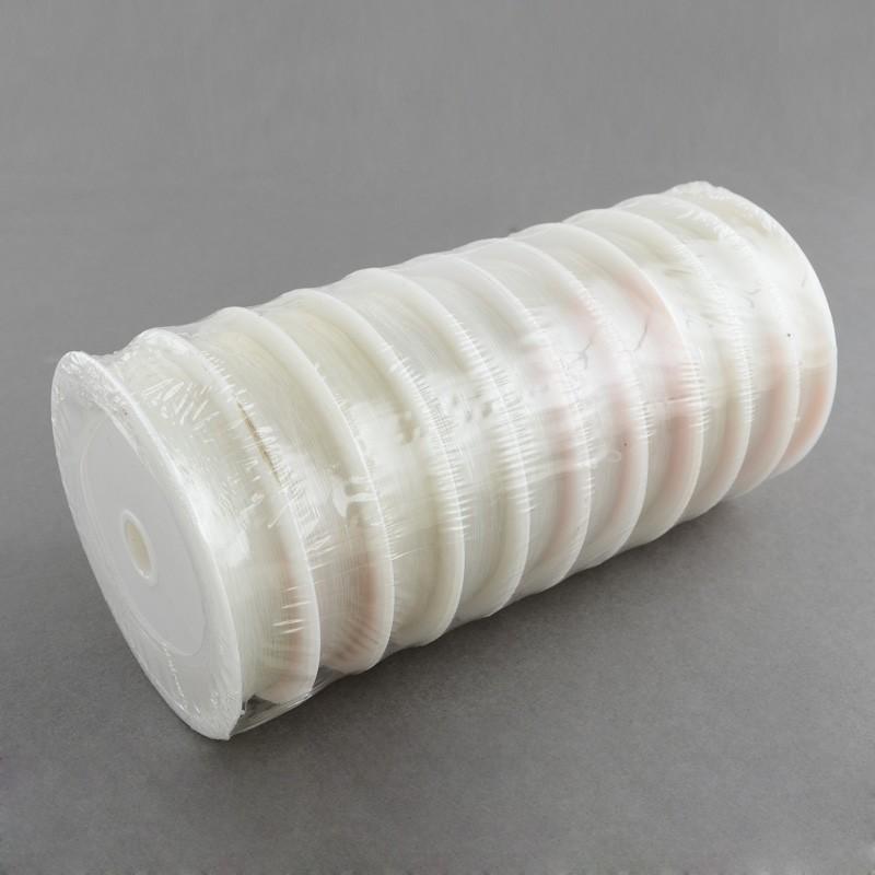 Силіконова (еластомірна) нитка, 0,8 мм, прозора, котушка 10м.