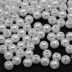 Бусина жемчужная, 4 мм, белая