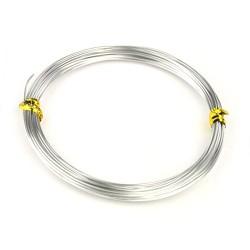 Проволока алюминиевая, 0,8мм, серебристая, цена за 1 метр