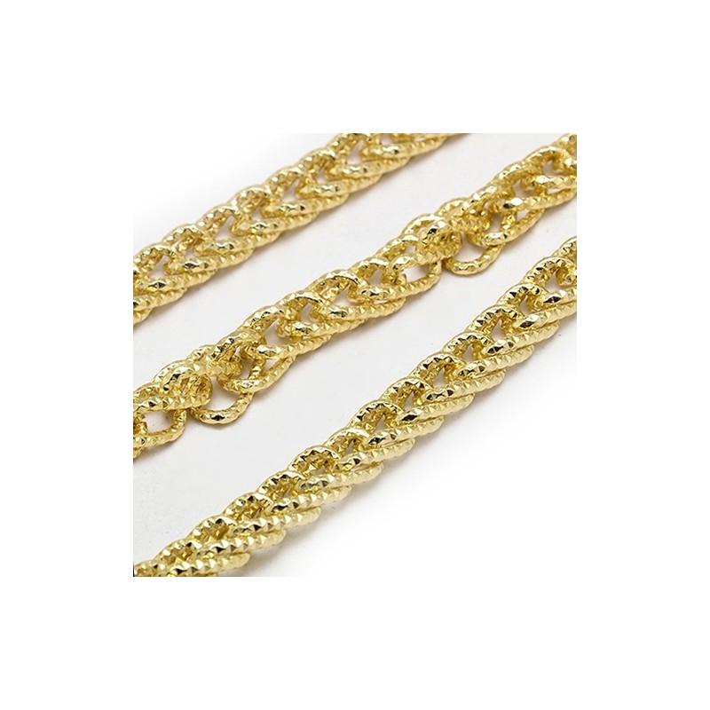 Ланцюжок алюмінієвий, золотистий, 5х10х15мм, ціна за 10 см