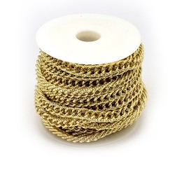 Цепочка алюминиевая, золотистая, 5х10х15мм, цена за 10см