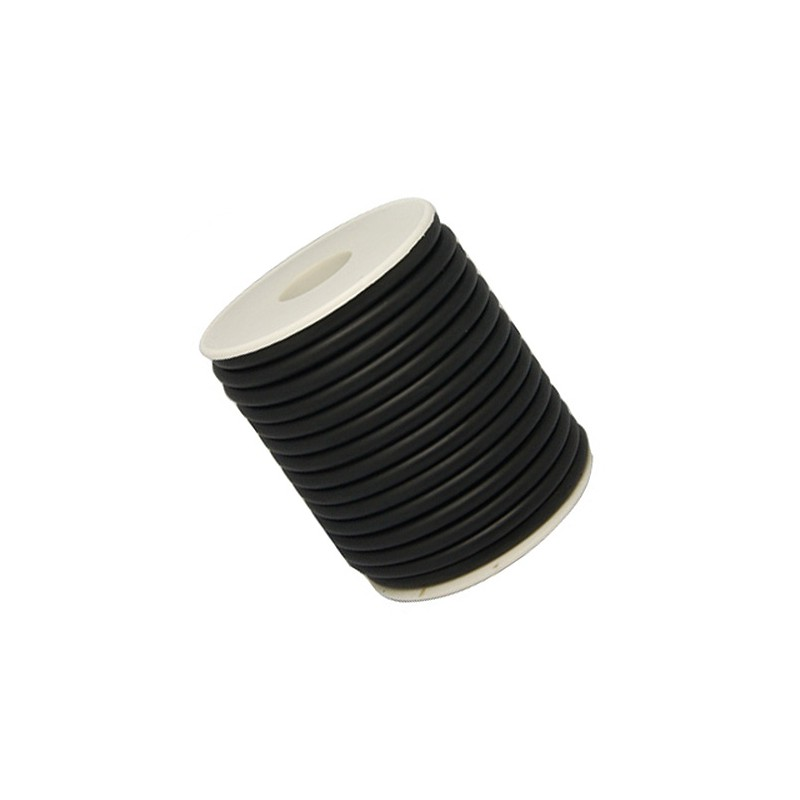 Шнур каучуковий (гумовий), чорний, 2мм, ціна за 1метр