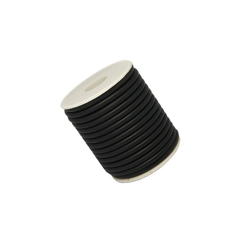 Шнур каучуковый (резиновый), черный, 2мм, цена за 1метр