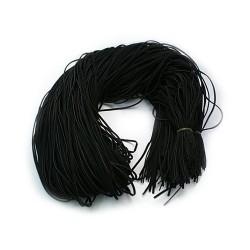 Шнур вовняний, чорний, 1х2,7мм, ціна за 1метр