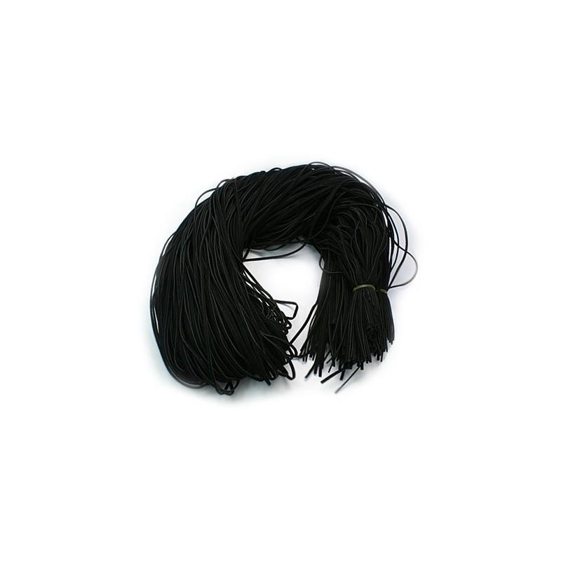 Шнур шерстяной, черный, 1х2,7мм, цена за 1метр